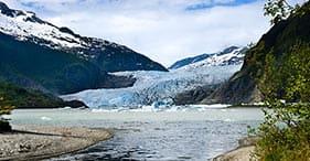 Mendenhall-Gletscher und Fischzucht