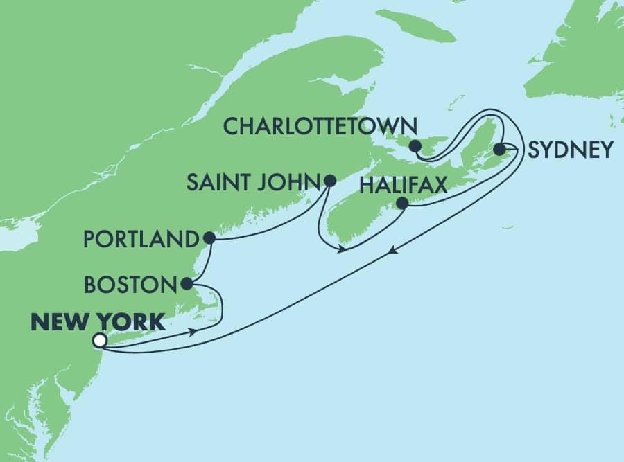 10-Day Canada & New England Round-trip New York