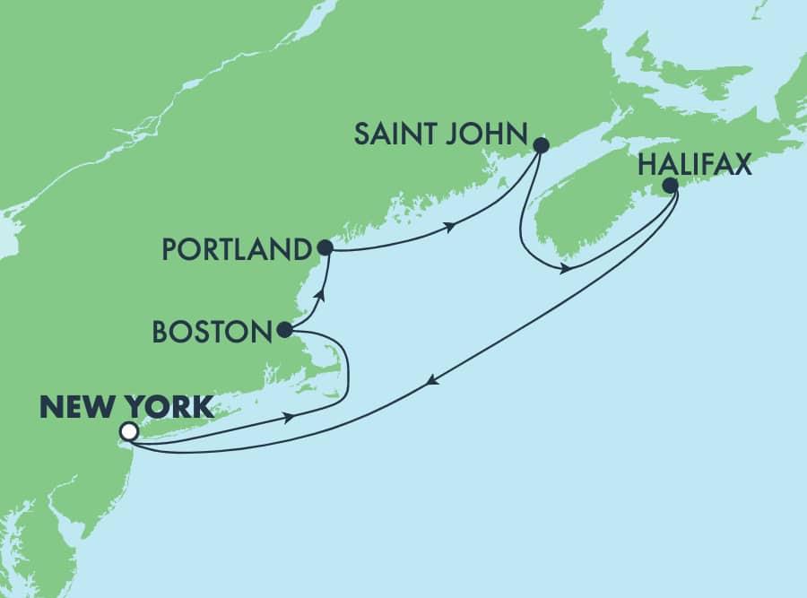 7 Tage Kanada und Neuengland, Hin- und Rückfahrt ab New York:Portland und Boston