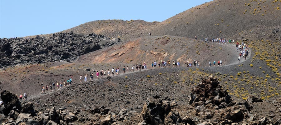 Volcanic island Nea Kameni in Europe cruise