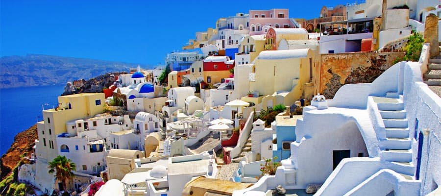 Unique architecture in Santorini
