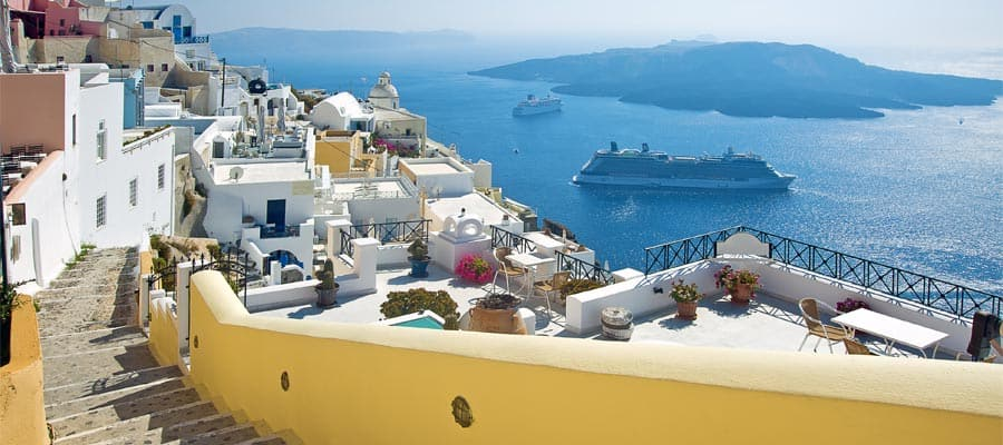 Grand views in Santorini on your Europe cruise