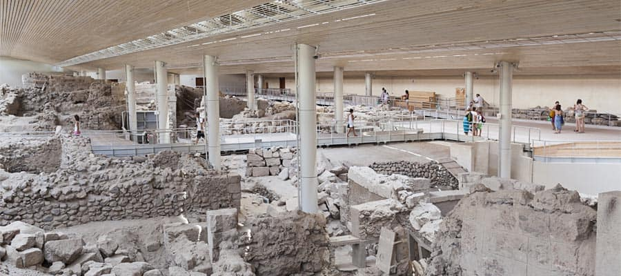 Akrotiri, excavation site of a Minoan Bronze Age settlement