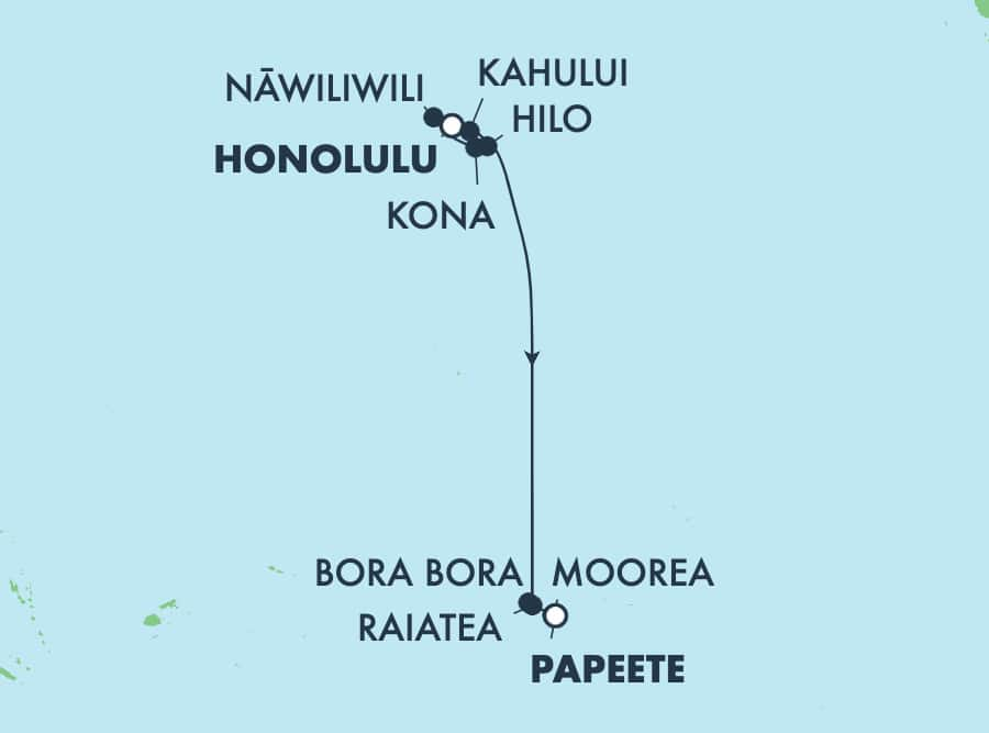 13-Day Hawaii & French Polynesia from Honolulu to Papeete