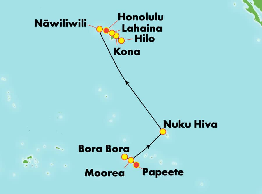 14-Day Hawaii & French Polynesia from Papeete