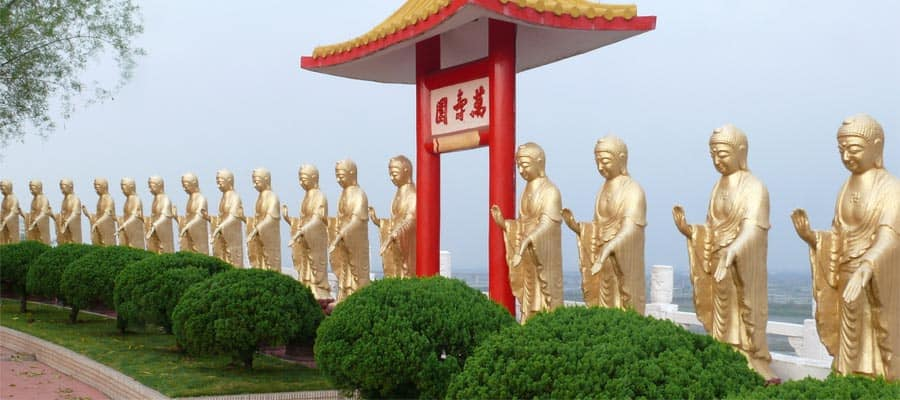 Golden Buddhas on a Kaohsiung Cruise