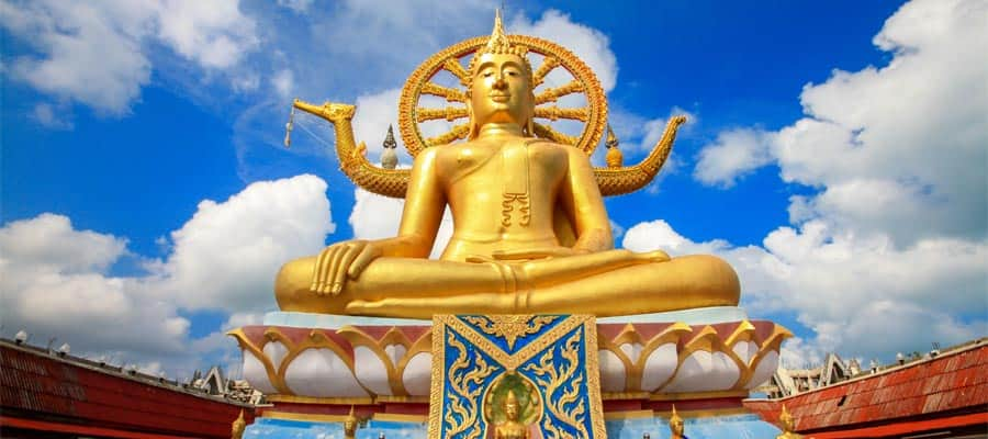 Big Buddha statue on your cruise to Ko Samui