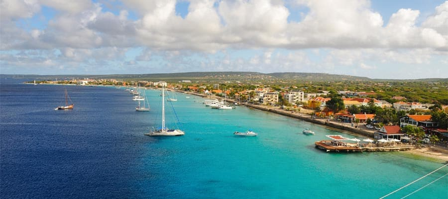 Aerial of Bonaire on your Caribbean cruise
