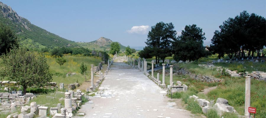 Ruins of the Arcadian Way on your Europe holiday