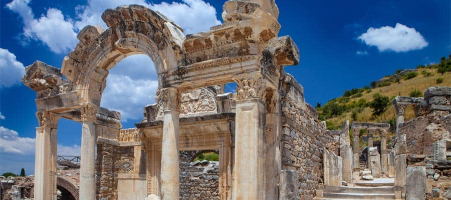 Temple ruins in Ephesus on your Turkey vacation