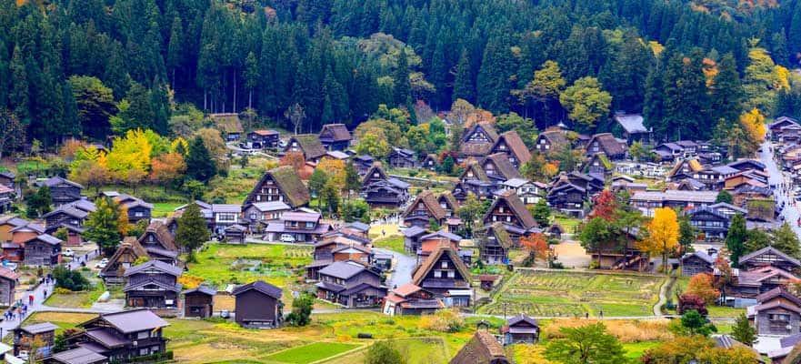 World Heritage Sites Shirakawago & Gokayama