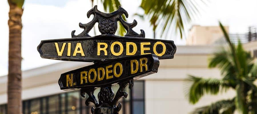 Rodeo Drive on your Los Angeles cruise