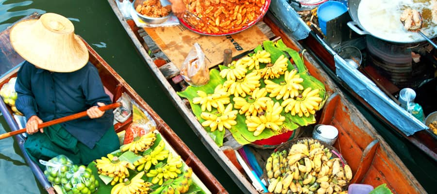 Traditional Floating Market on Laem Chabang Cruises