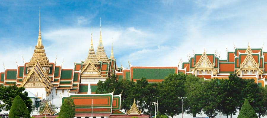 Opulent rooftops of Bangkok on Laem Chabang Cruise