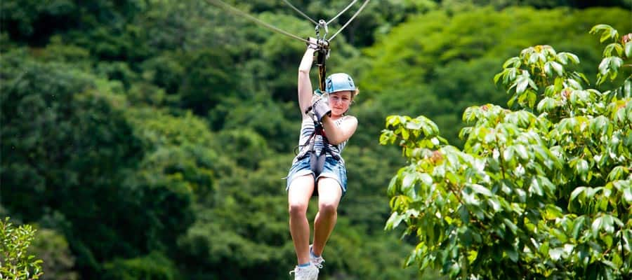 Zip line through the rainforest on your Panama Canal cruise