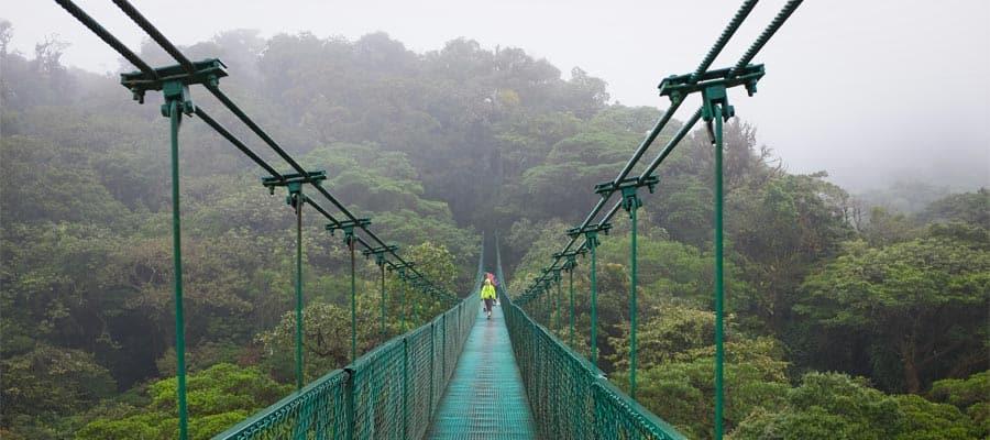 Empruntez le pont suspendu de Monteverde durant votre croisière sur le Canal de Panama