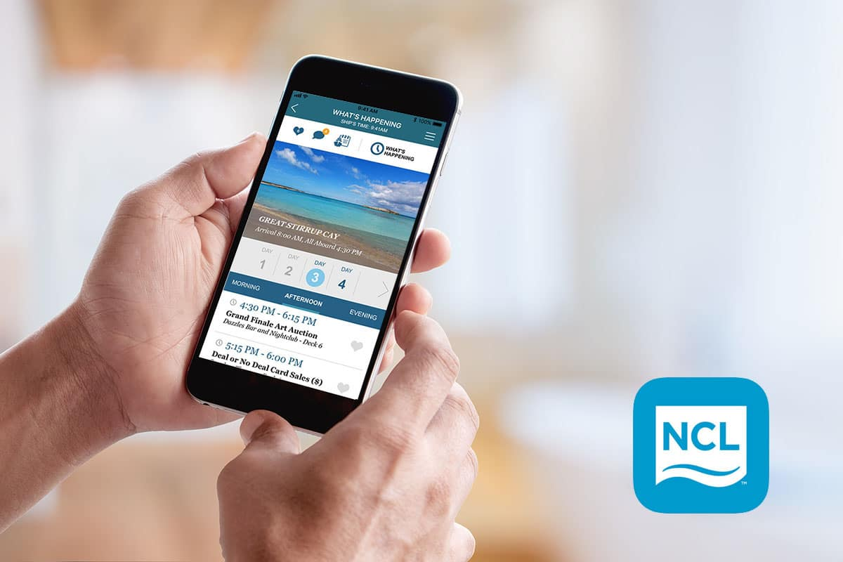 cruise norwegian app screen