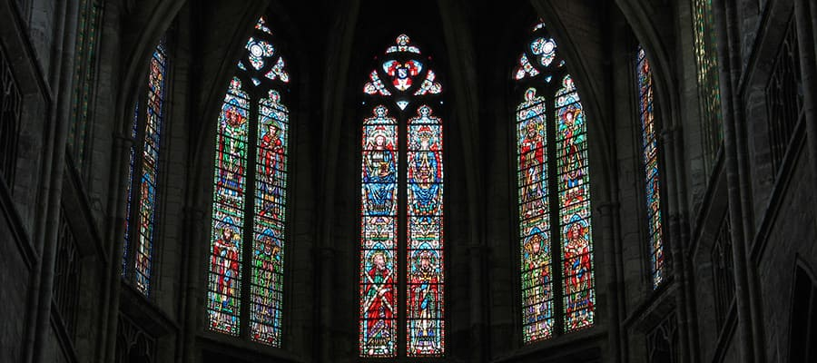 Beautiful stained glass windows in Bordeaux