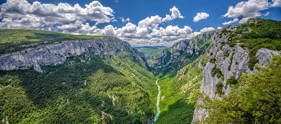Canyon of Verdon River when you cruise to Le Verdon