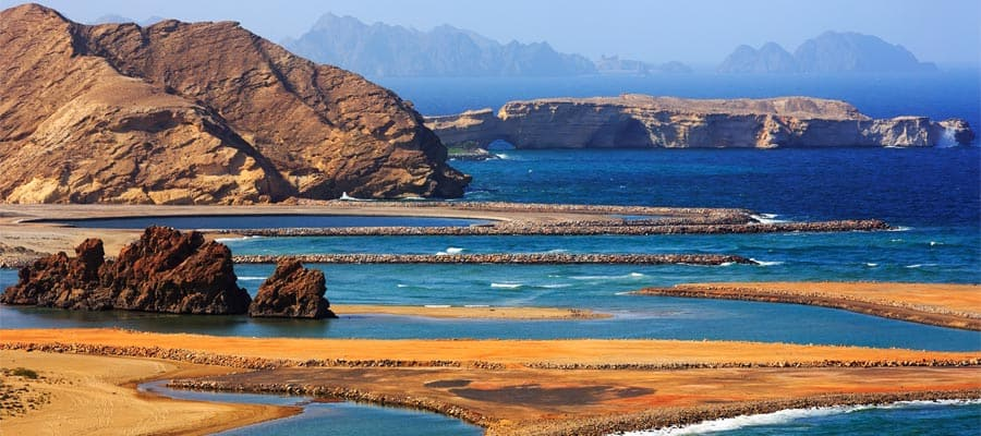 Amazingly beautiful Yiti beach on Cruises to Muscat