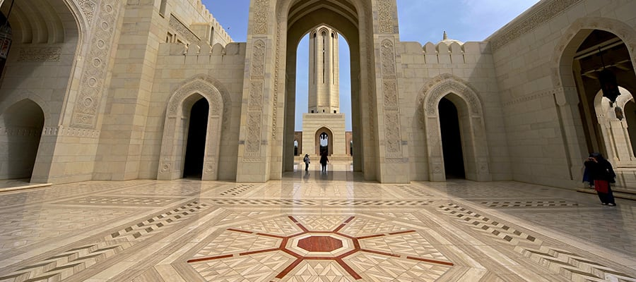 Sultan Qaboos Grand Mosque on your Asia cruise