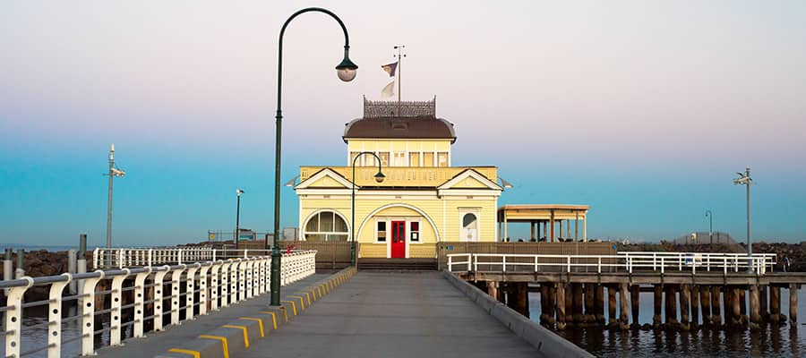 St Kilda Pier on a cruise to Melbourne