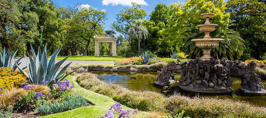 Fitzroy Gardens on Cruises to Melbourne