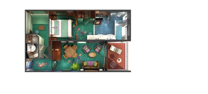 Floor plan The Haven 2-Bedroom Family Villa with Balcony