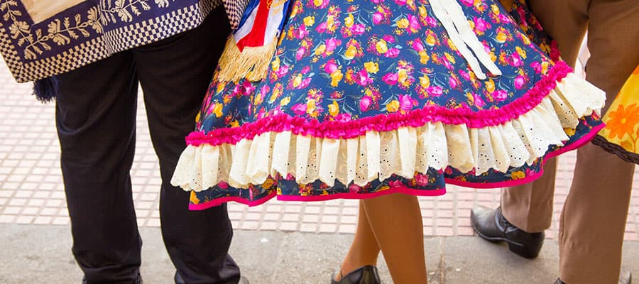 Traditional Chilean dress