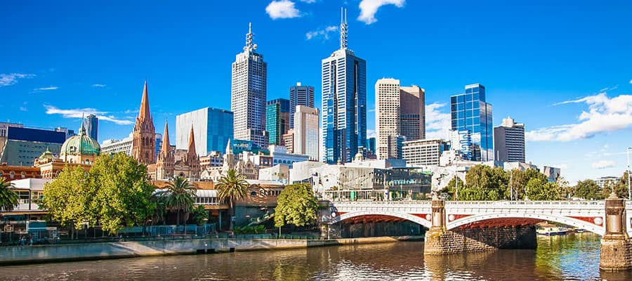 City views of Melbourne on your Australia cruise