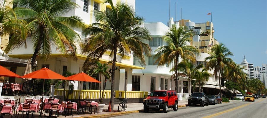 See art deco architecture on your Miami cruise