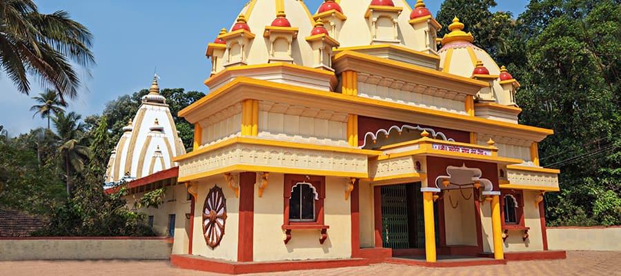 Hindu temple in Ponda on a Cruise to Mormugao Goa