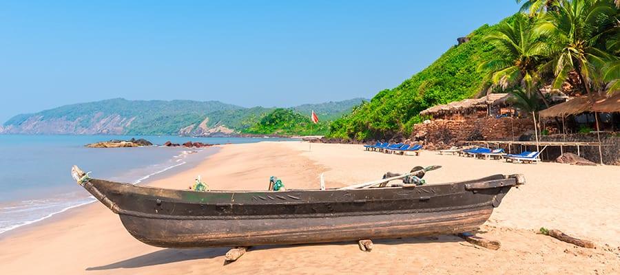 Plage de Cola à Goa Sud lors des croisières à Mormugao Goa