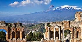 Taormina y el monte Etna