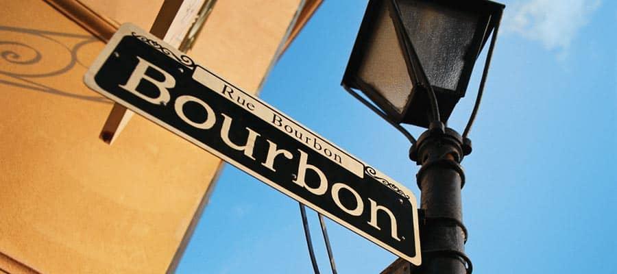 Visitez la rue Bourbon Street lors de votre croisière à la Nouvelle-Orléans