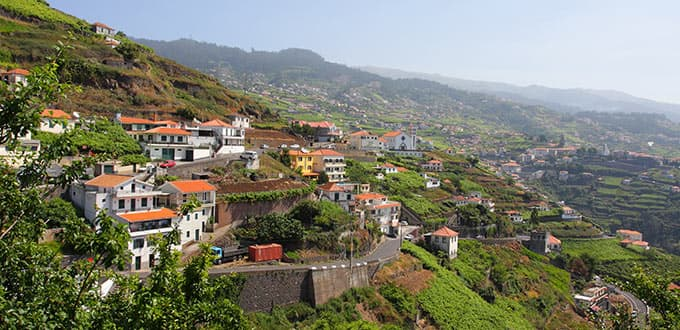 Take a stroll through the old historic town center of Funchal, Portugal