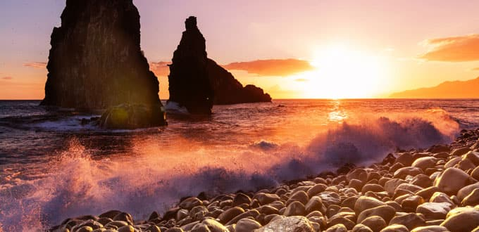 Capture wild sunsets along the Madeira coastline
