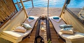 Cabane VIP avec vue sur l'océan à Pearl Island