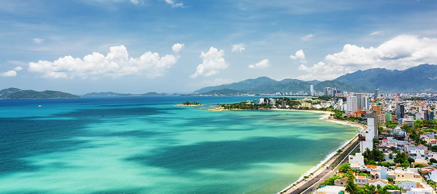 South China Sea in Khanh Hoa province