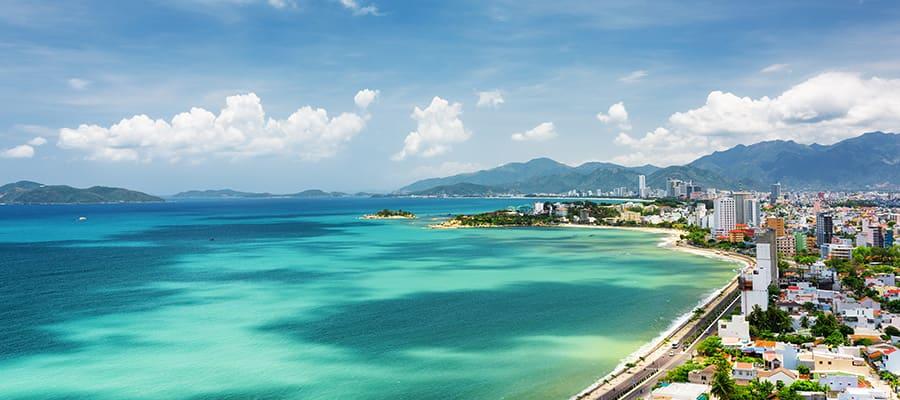 Mar del sur de China en la provincia de Khanh Hoa