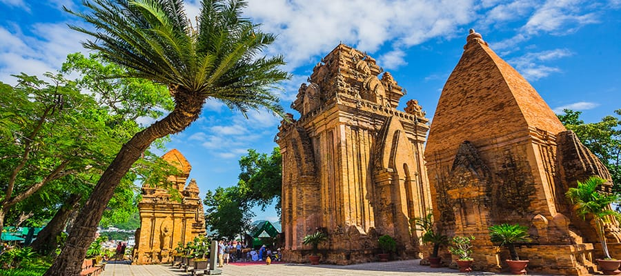 Brick cham towers on your Cruise to Nha Trang