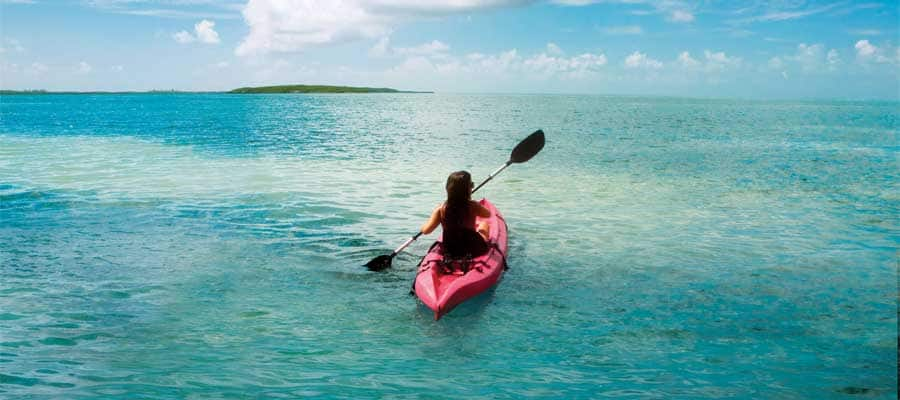 Kayaking on your Bahamas cruise