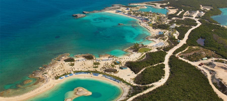 Great Stirrup Cay no seu cruzeiro no Caribe