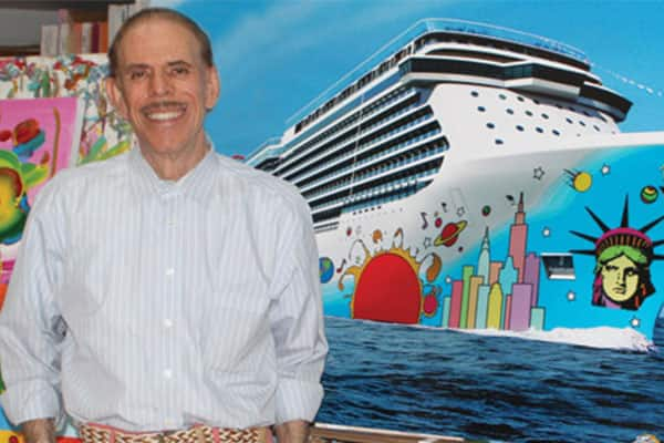 Um encontro com Peter Max, o artista do casco do Norwegian Breakaway