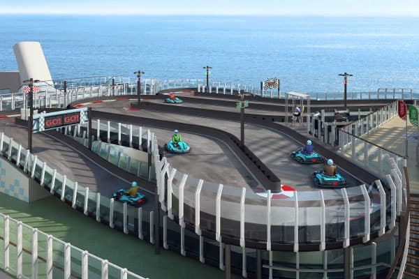 Race track on Norwegian Joy