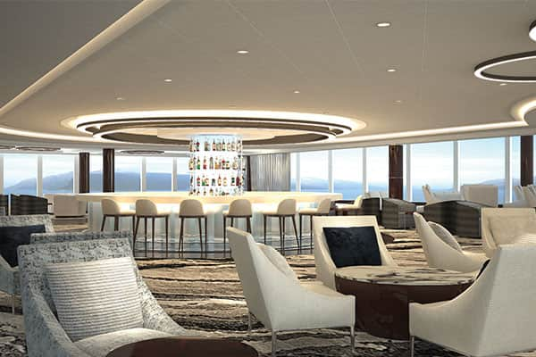 Observation lounge on Norwegian Bliss