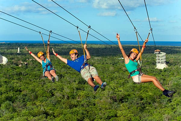 Zipline on a Caribbean Cruise