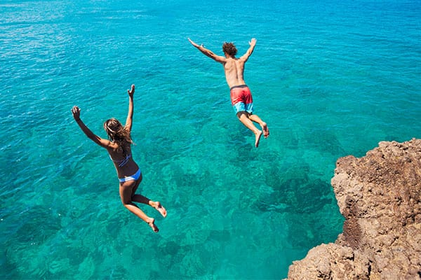 Cliff Diving on your Caribbean Cruise