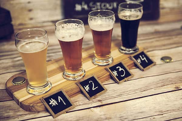 4 different types of beer