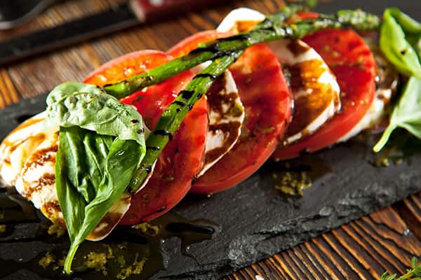 Try a caprese salad on a Europe Cruise